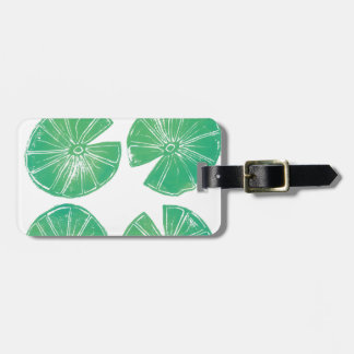 Lily pads luggage tag