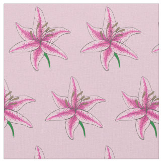 Lily Pastel Pink Flower Floral Lilies Lilly Garden Fabric