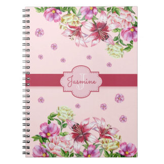 Lily & Peony Floral Pink Notebook