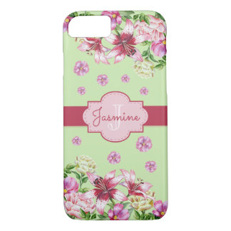Lily & Peony Mint iPhone 7 Case