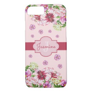 Lily & Peony Pink iPhone 7 Case