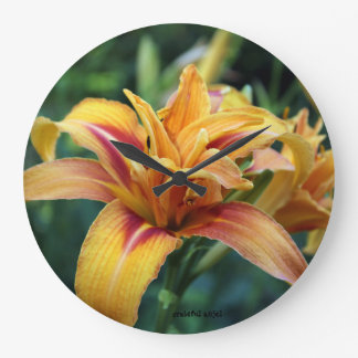 Lily photo wall clock