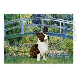 Lily Pond Bridge - Cardigan Welsh Corgi Card