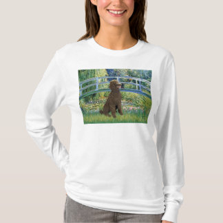 Lily Pond Bridge-Chocolate St Poodle T-Shirt