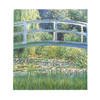 Lily Pond Bridge - insert your pet Notepad