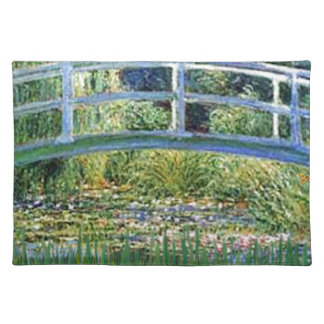 Lily Pond Bridge - insert your pet Placemat