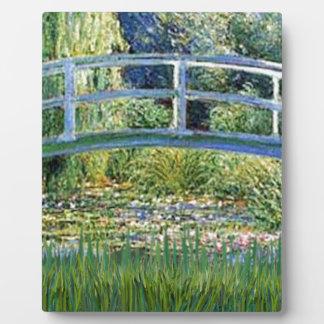 Lily Pond Bridge - insert your pet Plaque