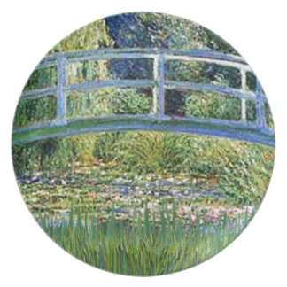 Lily Pond Bridge - insert your pet Plate