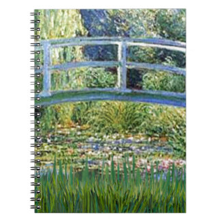 Lily Pond Bridge - insert your pet Spiral Notebook