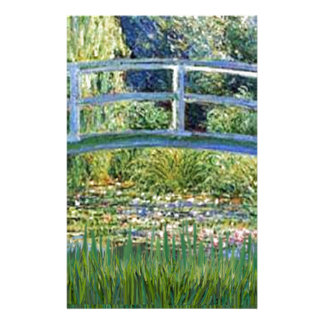 Lily Pond Bridge - insert your pet Stationery