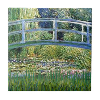 Lily Pond Bridge - insert your pet Tile