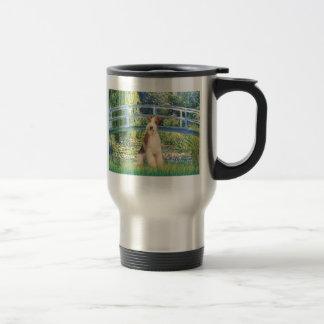 Lily Pond Bridge - Wire Fox Terrier 3 15 Oz Stainless Steel Travel Mug