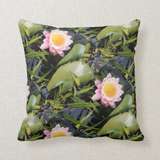 Lily Pond Throw Cushion by for all we know