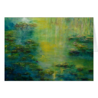 Lily Pond Tribute to Monet Card