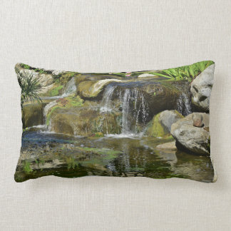 Lily Pond Waterfall Lumbar Pillow