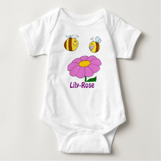 Lily-Rose Named baby girl gifts - personalized Baby Bodysuit
