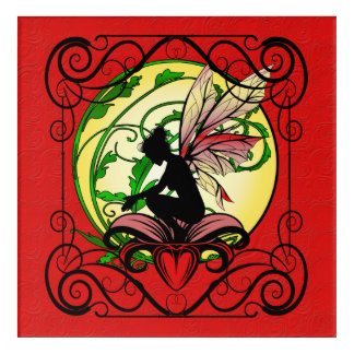Lily Shadow Fairy Acrylic Wall Art