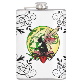 Lily Shadow Fairy Hip Flask