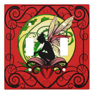 Lily Shadow Fairy Light Switch Cover