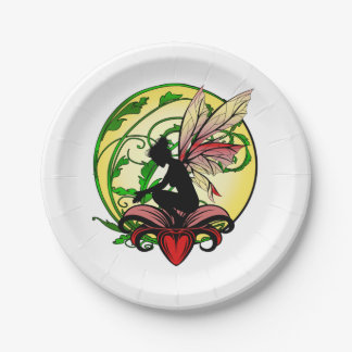 Lily Shadow Fairy Paper Plate