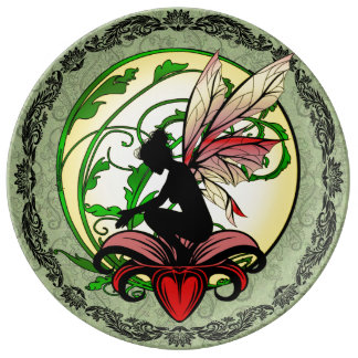 Lily Shadow Fairy Plate