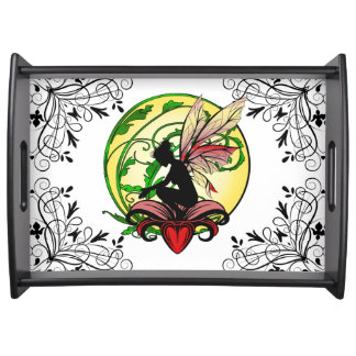 Lily Shadow Fairy Serving Tray