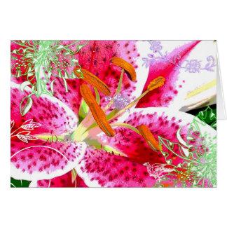 Lily Stargazer Fantasy, Greeting Card