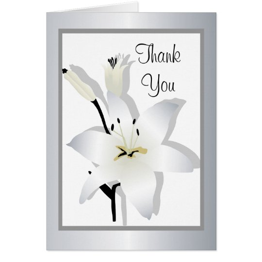 Lily Thank You Greeting card