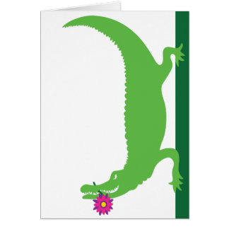 Lily, the Alligator Card