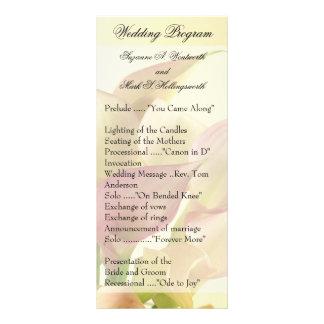 Lily Wedding Programs, Floral, Flowers, Spring Rack Card