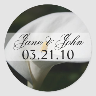 Lily Wedding Round Sticker
