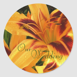 Lily Wedding Stickers