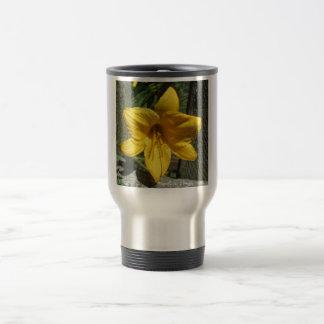 Lily Yellow Weathered Fence Coffee Mug