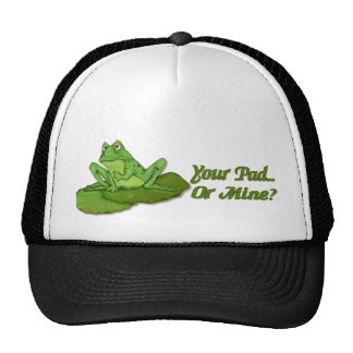 Lilypad Frog Trucker Hat