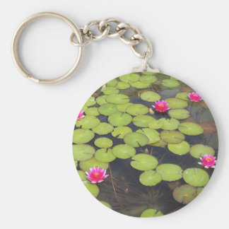 Lilypads and Water Lilies Keychain