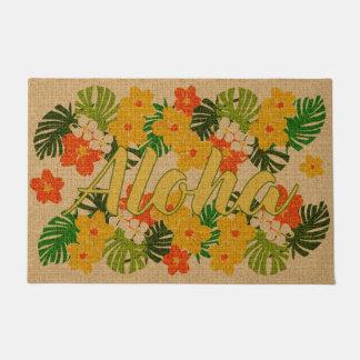 Limahuli Garden Vintage Hawaiian Orange Aloha Doormat