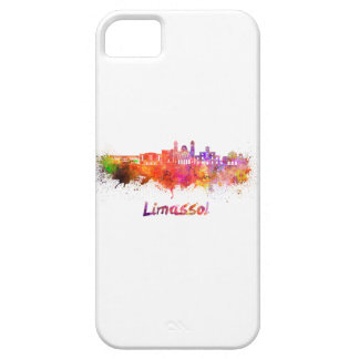 Limassol skyline in watercolor iPhone 5 cases