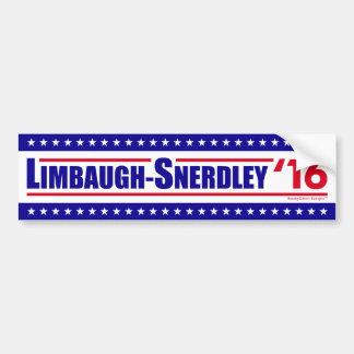 Limbaugh-Snerdley for President 2016 Bumper Sticker