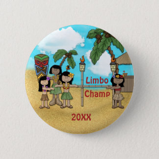 Limbo Luau Birthday Party - Limbo Champ 2 Inch Round Button