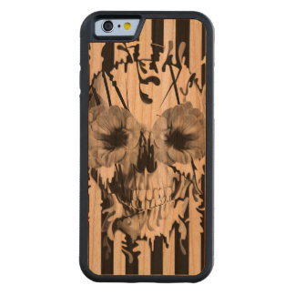 Limbo, skull with poppy eyes carved cherry iPhone 6 bumper case