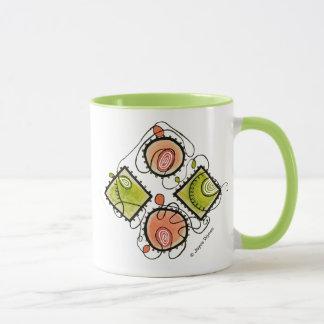 Lime 11 oz Combo Mug-Random Scribbles Mug