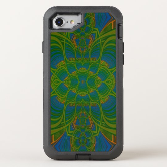 Lime Abstraction Fractal Abstract OtterBox Defender iPhone 7 Case