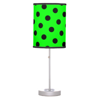 Lime and Black Polka Dots Table Lamp