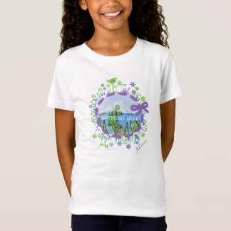 Lime and Lilac Flower Shirt