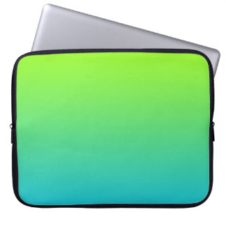 Lime and Ocean Ombre Laptop Sleeve