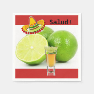 Lime and Tequila Cocktail Napkins Disposable Napkin