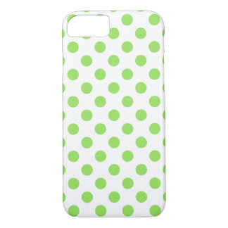 Lime and white polka dots iPhone 8/7 case