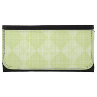 Lime-Argyle-Leather-Wallet-Lg Women's Wallet