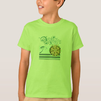 Lime-beach-surf-Tee-for-kids T-Shirt