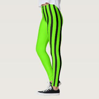 Lime & Black Jester Leggings